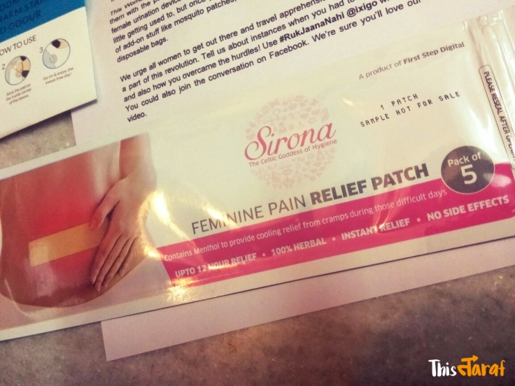 SironaFemininePainReliefPatch