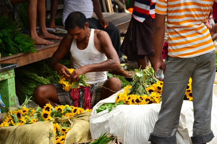 Flower Market at Mallik Ghat