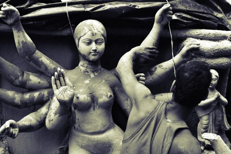 craftsmanship at Kumartuli